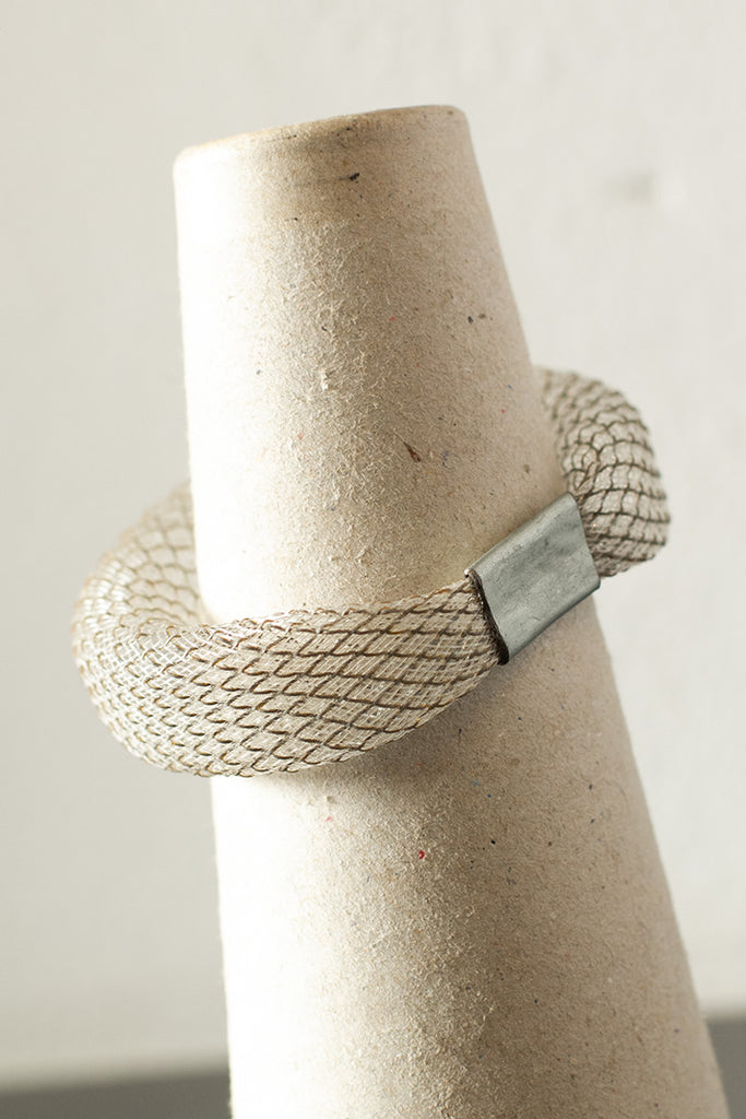 Clear refective mesh bangle back view