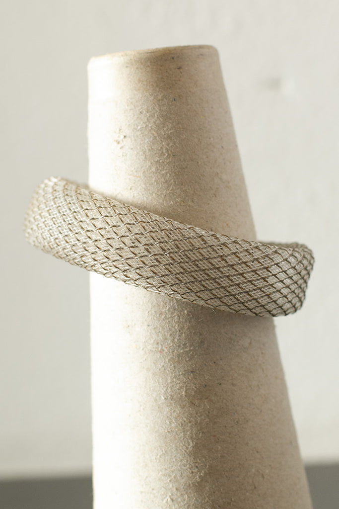 Clear reflective mesh bangle