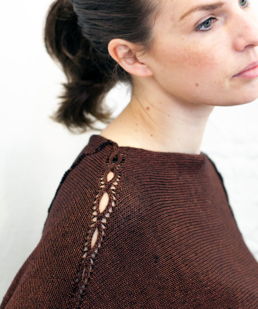 Cabled Linen & Merino Batwing