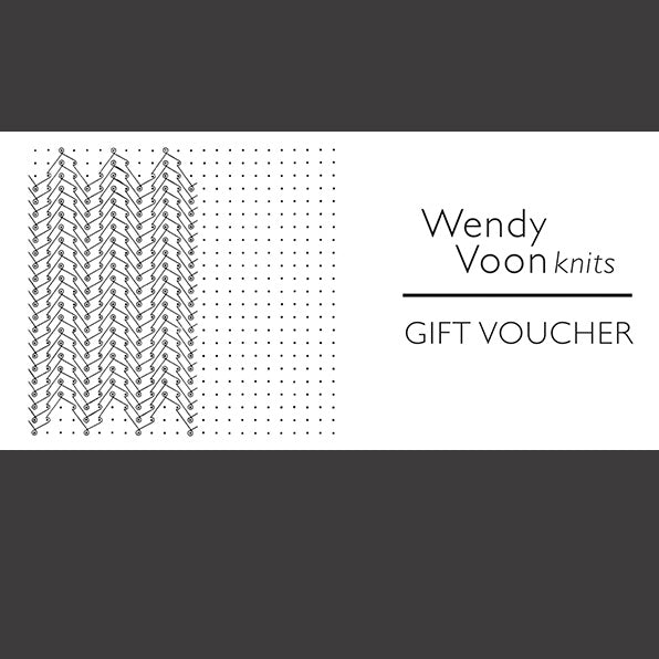 Wendy Voon knits gift voucher 210 to 300 AUD value