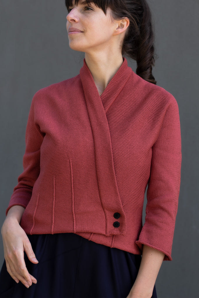 Welted Cotton Cardigan