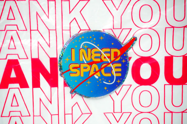 "I Need Space 3"" Sticker"