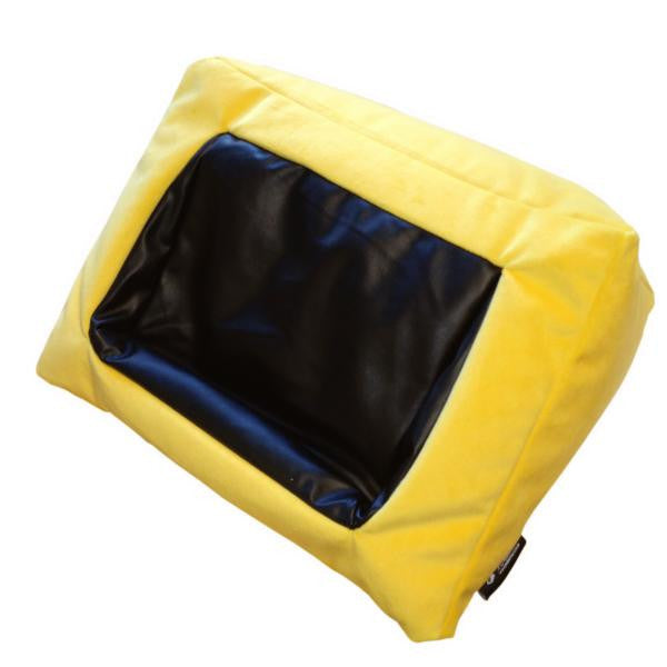 iCushion iPad Cushion Stand /Holder Velvet Yellow