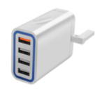 MZ USB 4 Port Wall Adaptor with Rapid Charging 3.0A