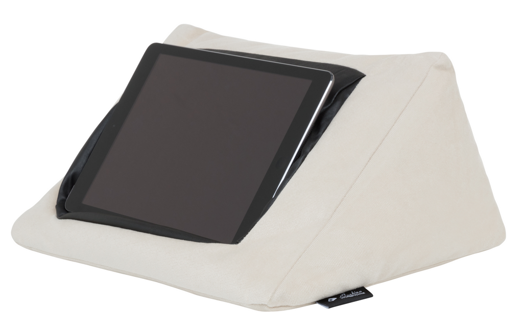 iCushion iPad Cushion Stand /Holder Velvet Beige