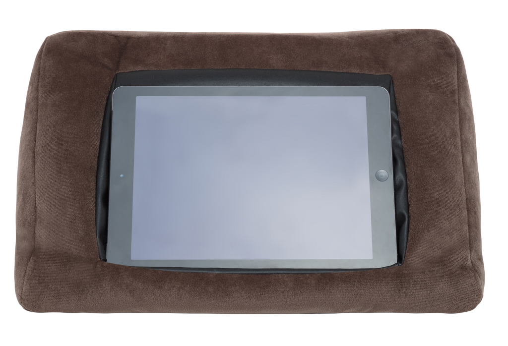 iCushion iPad Cushion Stand /Holder Velvet Brown