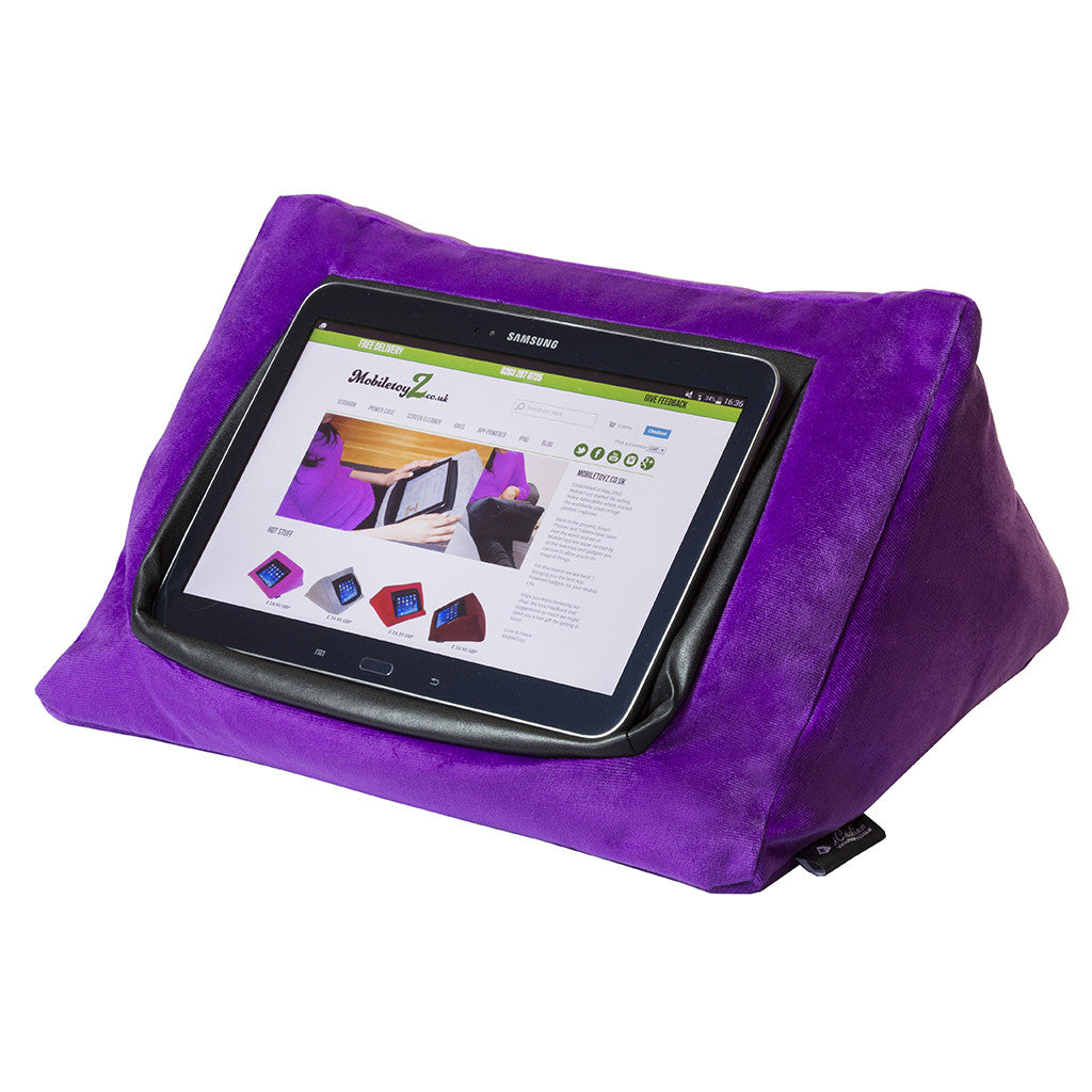 iPad Cushion Stand / Holder Velvet PURPLE