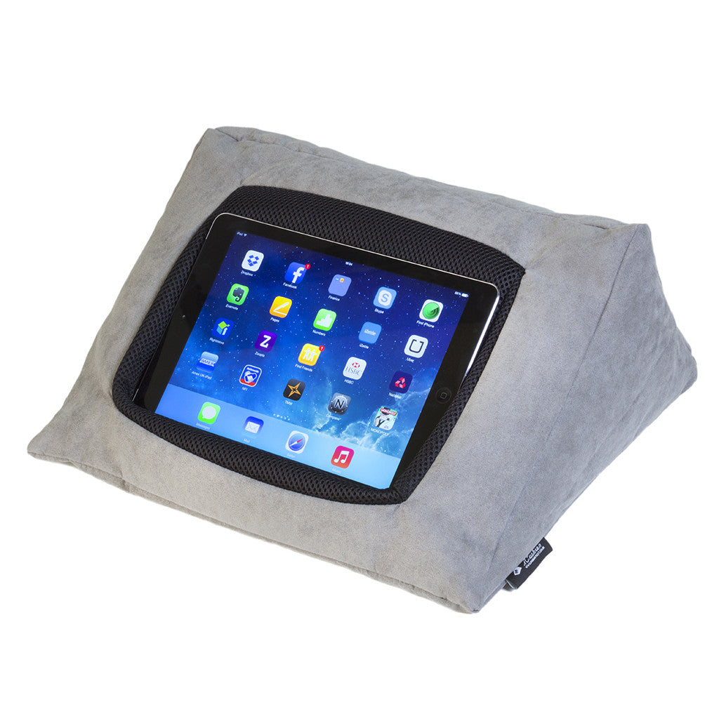 iCushion iPad Cushion Stand /Holder Pongee Silk Grey