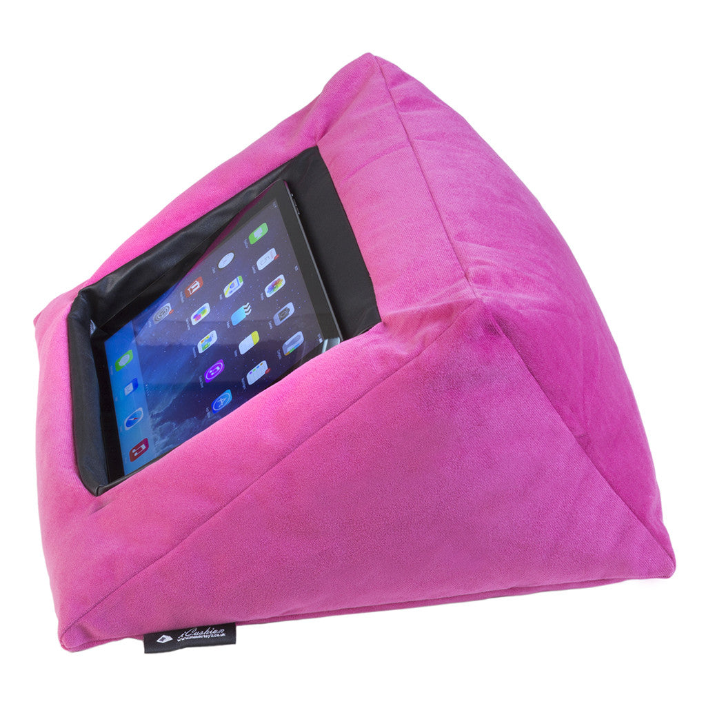 iCushion iPad Cushion Pillow Stand /Holder Velvet Pink