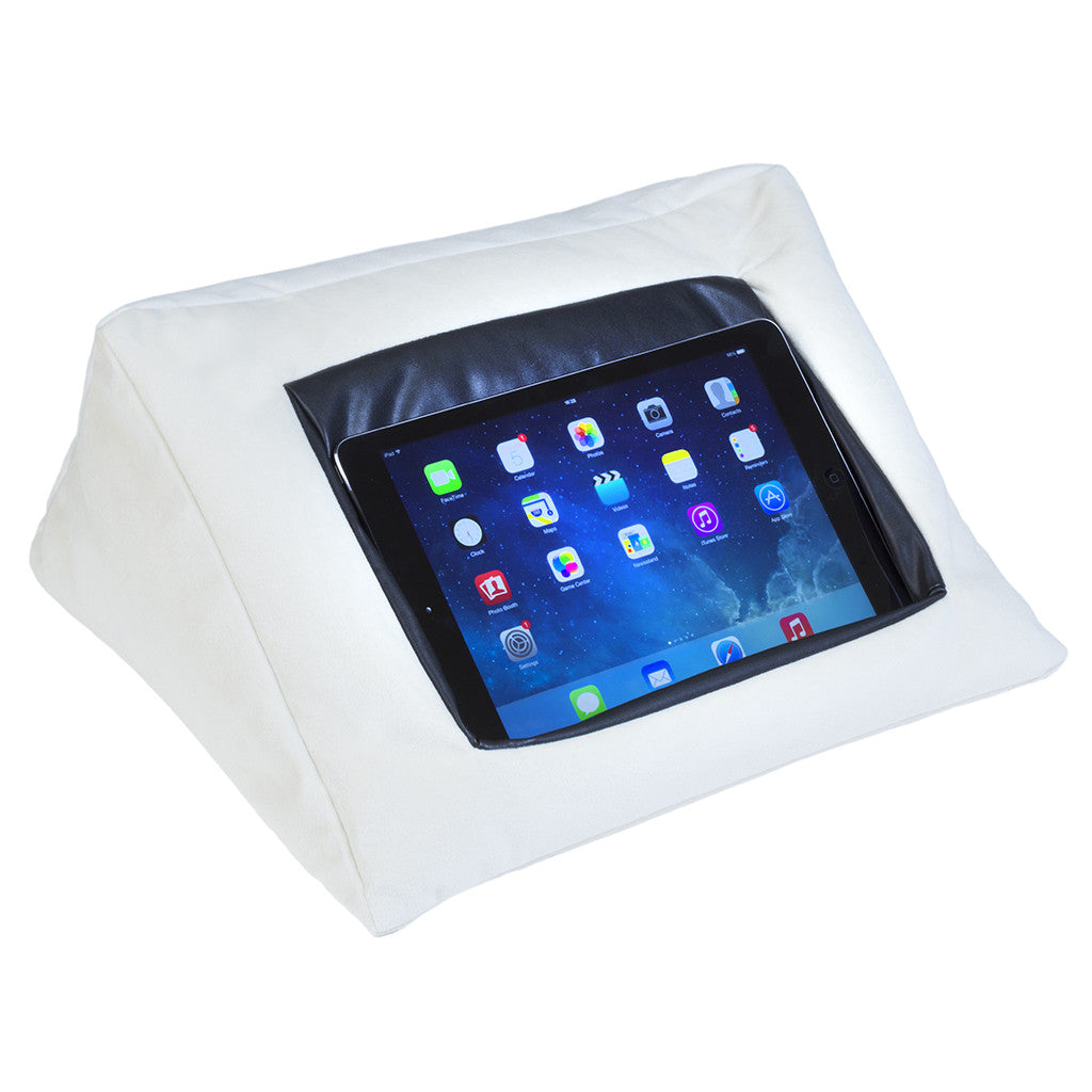 iCushion iPad Cushion Stand / Holder Velvet White