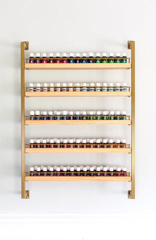 The Bray - Brass - Essential Oil Rack