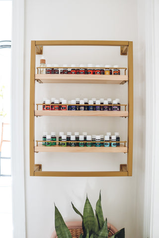 The Winston - Brass - Essential Oil Shelf
