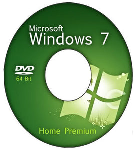 Refurbished Windows 7 Home Premium 64 Bit DVD + COA