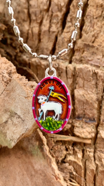 "Agnus Dei Patron Saint Medal. ""Lamb of God who Takes Away the Sins of the World"""
