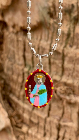 Barbara, Saint Medal, Patron Against Lightning, Fire, Explosions,  for Safe Fireworks Displays