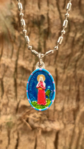 "Bernadette, Saint Medal, Patron of France, Lourdes, Miracles, the film, ""Song of Bernadette"""