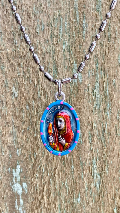 Clare of Assisi, Clare, Saint Medal, Patron of Television, Assisi, Poor Clares,