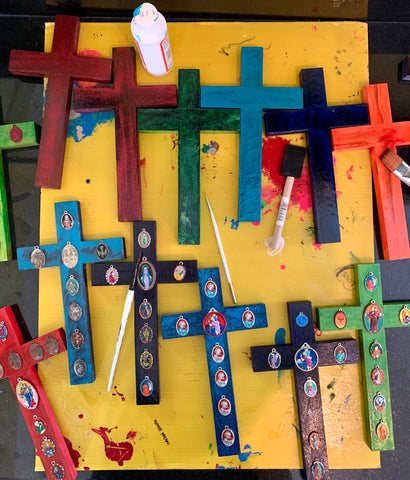 Hand-Painted Repurposed Crosses