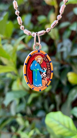 Francis of Assisi, Saint Medal #4, Patron the Environment, Animal Lovers, Bird Watchers