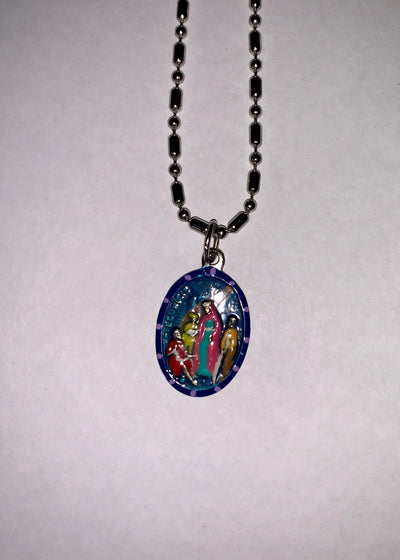 Hedwig, Hand-Painted Saint Medal, Patron of Queens, Invoked for Reconciliations