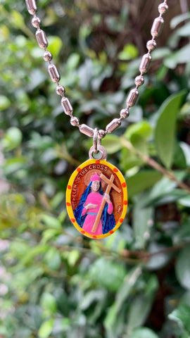 Helen of the Cross, Hand-Painted Saint Medal, Patron of Archaeologists & New Discoveries