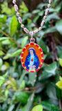 Immaculate Heart of Mary Medal, Hand-Painted Saint Medal, Sorrowful Heart of Mary