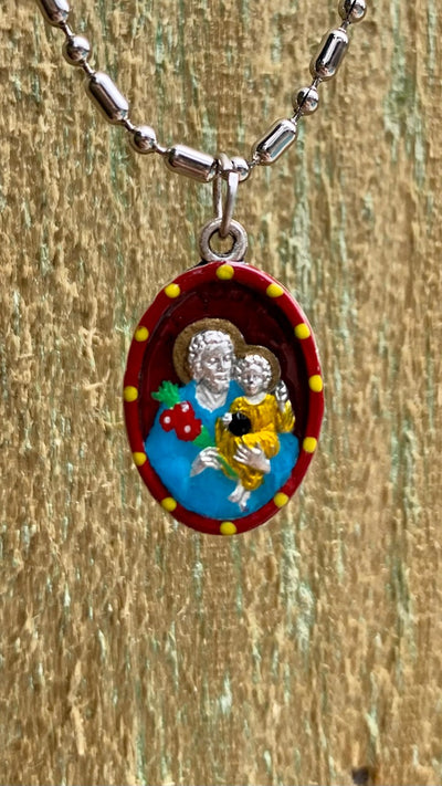Joseph, Hand-Painted Saint Medal, Jesus's Step-Father, Strength of Faith, Trust, God's Will