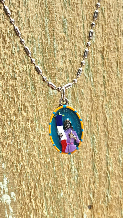 Joan of Arc, Hand-Painted Saint Medal, Patron Saint of France  & The Maid of New Orleans