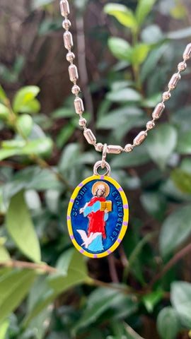 John the Evangelist, Hand-Painted Saint Medal, The Beloved Disciple, Apostle