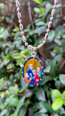 John of God, Hand-Painted Saint Medal, Portugal, Charity, Missionaries, Heart Disease, Heart Ailments, Chronic Heart Condition, Cardiovascular Health, Hospital Workers, Administrators