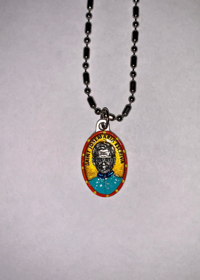 Josemaria Escriva, Hand-Painted Saint Medal, Opus Dei, Spain, Patron of Courage, Selflessness