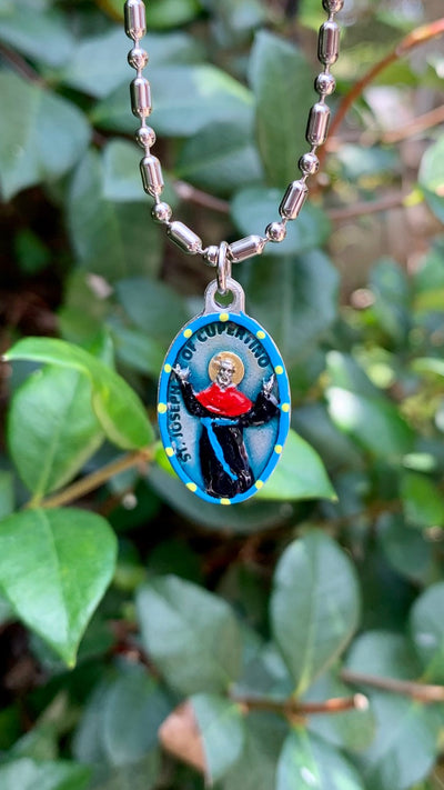 Joseph of Cupertino, Hand-Painted Saint Medal, Patron of Pilots, Air Force, Frequent Flyers, Flight Attendants