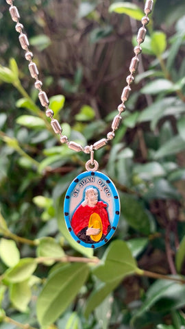 Juan Diego, Hand-Painted Saint Medal, Our Lady of Guadalupe, Patron of Mexico, Mexico City