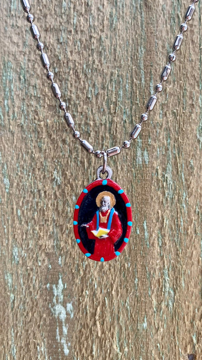 Jude Thaddeus, Hand-Painted Saint Medal #3, Patron of Hopeless Causes, Impossible Situations