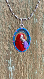 Madonna of the Street, Hand-Painted Saint Medal, Madonnina, Madonna Della Strada, Our Lady of the Wayside, Traveling