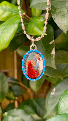 Margaret of Antioch, Hand-Painted Saint Medal, Patron of Nurses, Fertility, Safe Pregnancies