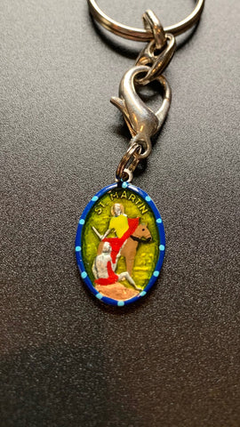 "Martin of Tours, Hand-Painted Saint Medal, Patron of Bartenders, Wine Lovers, ""Party-Goers"""