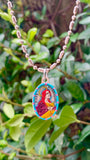 Mary Magdalen, Hand-Painted Saint Medal, Patron of Hair Stylists, Perfumers