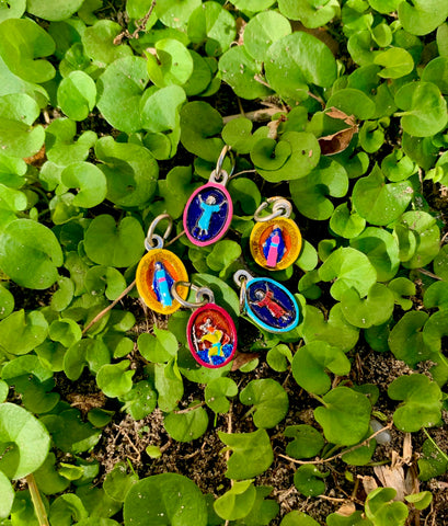 Tiny Mini Hand-Painted Saint Medals - Perfect for Bracelets