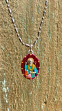Nicholas, Hand-Painted Saint Medal, Santa Claus, Miracles, Caring for the Poor