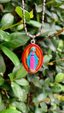 Miraculous Medal - Large, Hand-Painted Saint Medal, Blessed Virgin Mary, Saint Catherine Laboure, Special Grace