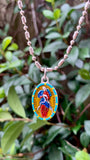 Our Lady Undoer Of Knots, Hand-Painted Medal, Untying Knots of Discord