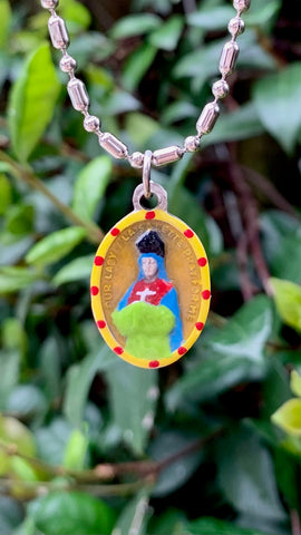 Our Lady of La Salette, Hand-Painted Saint Medal, Reminder to Keep Holy the Sabbath