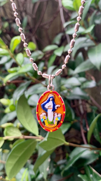 Our Lady of Medjugorje, Hand-Painted Medal, Answers & Vision, Invoked for Reflection