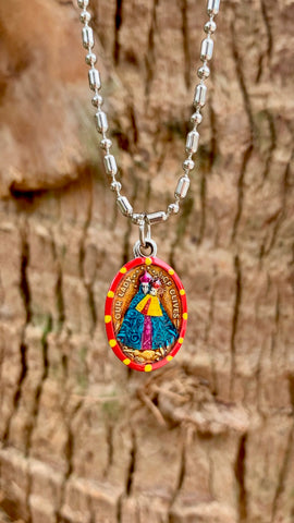 Our Lady Of Olives, Hand-Painted Medal, Reconciliation, Against Lightning
