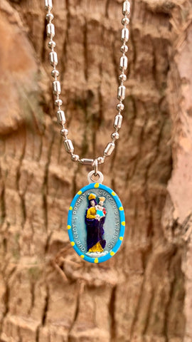 "Our Lady of Prompt Succor, Hand-Painted Medal, Patron of New Orleans, ""Quick Help"""