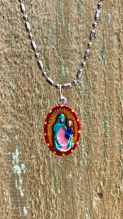 Our Lady Of the Most Holy Rosary, Hand-Painted Medal, Military Victories
