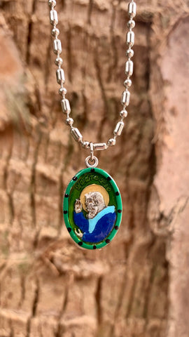 Padre Pio, Hand-Painted Saint Medal, Capuchin Friar, Stigmata, Bilocation, Levitation, The Miracle Worker Invoked for Help with Health & Healing