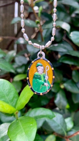 Patrick, Hand-Painted Saint Medal, Patron Saint of Ireland, the Irish & St. Patrick's Day!