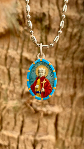 Paul of the Cross, Hand-Painted Saint Medal, Founder of the Passionists